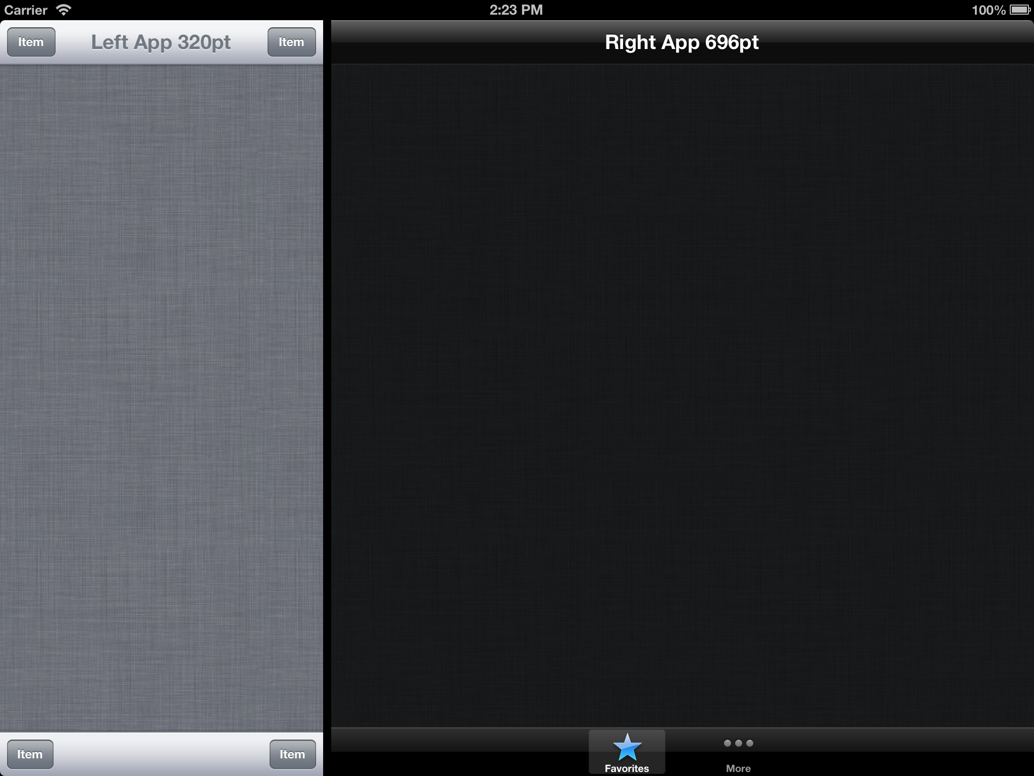 Side by Side iPad apps