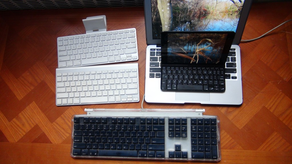 I barely used the keyboard dock for the original iPad as a keyboard, or dock for that matter, because it didn't fit around the case